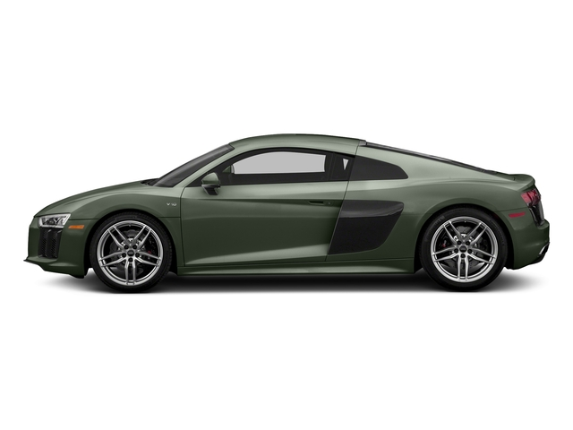 Camouflage Green Metallic 2017 Audi R8 Coupe Pictures R8 Coupe V10 plus quattro AWD photos side view