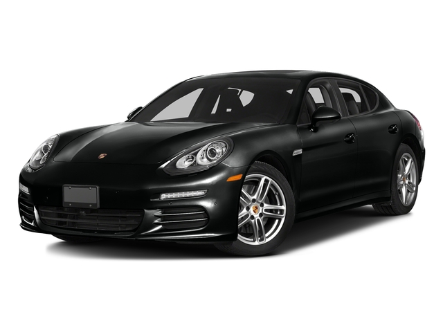 Jet Black Metallic 2016 Porsche Panamera Pictures Panamera 4dr HB Turbo S photos front view