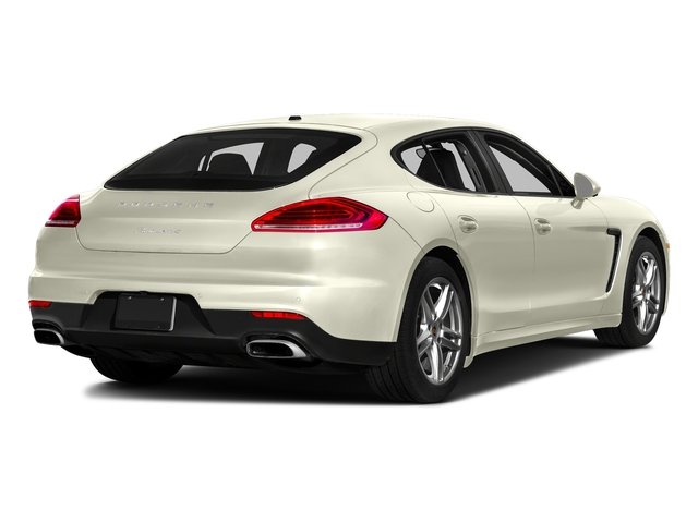 Carrara White Metallic 2016 Porsche Panamera Pictures Panamera 4dr HB Turbo S photos rear view